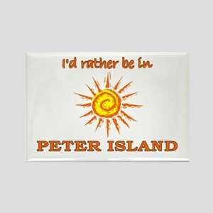 I'd Rather Be In Peter Island Rectangle Magnet