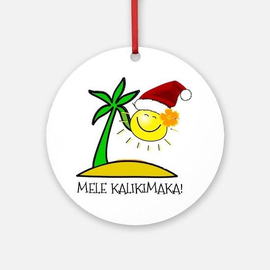 Hawaiian Christmas - Mele Kalikimaka Ornament (Rou