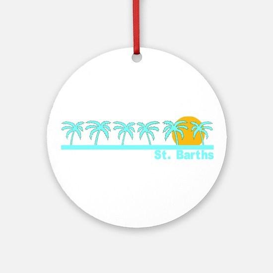 St. Barths Ornament (Round)