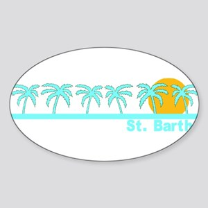 St. Barths Oval Sticker
