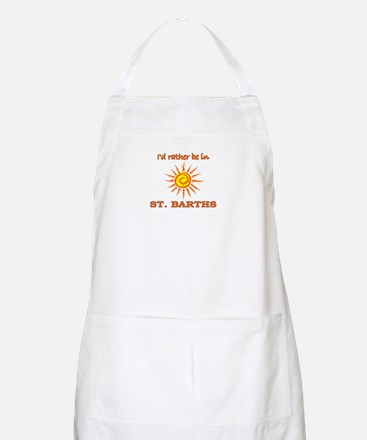 I'd Rather Be In St. Barths BBQ Apron