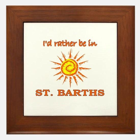 I'd Rather Be In St. Barths Framed Tile