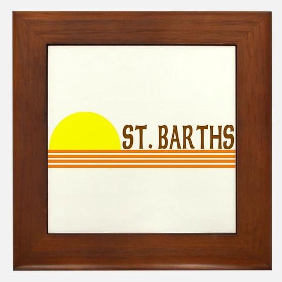 St. Barths Framed Tile