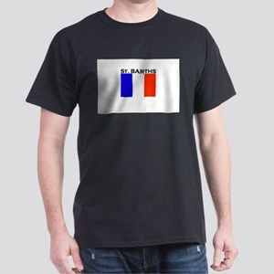 St. Barths Flag Dark T-Shirt