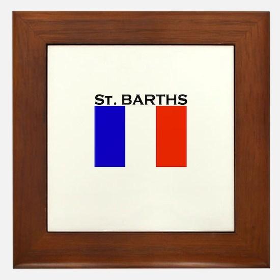 St. Barths Flag Framed Tile
