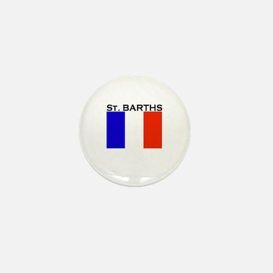 St. Barths Flag Mini Button