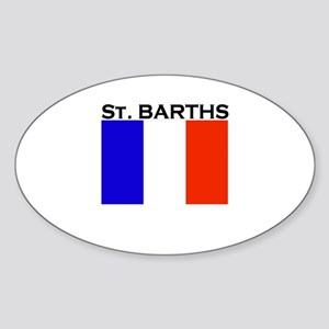 St. Barths Flag Oval Sticker