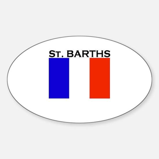 St. Barths Flag Oval Decal