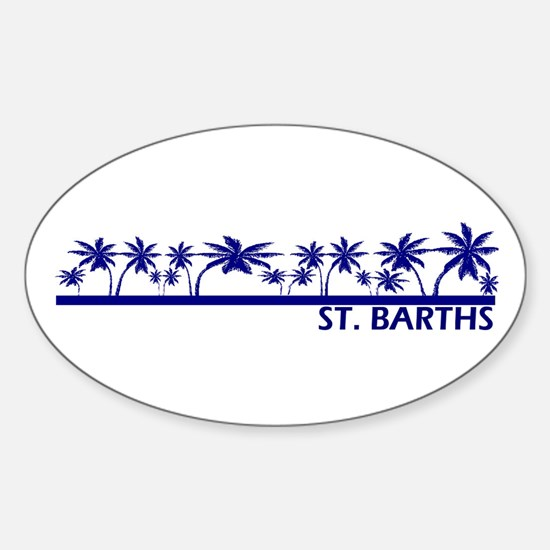 St. Barths Oval Decal