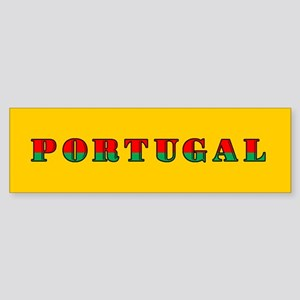 Portuguese Flag of Portugal Bumper Sticker