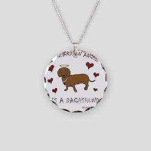 dachshund Necklace Circle Charm
