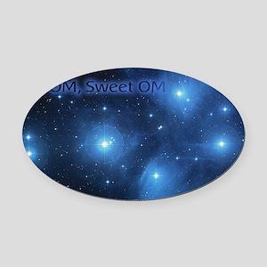 Sweet OM Pleiades twin duvet Oval Car Magnet