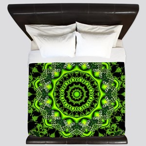 Forest Dome, Abstract Woods King Duvet