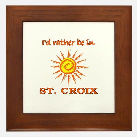 I'd Rather Be In St. Croix, U Framed Tile