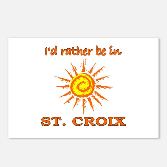 I'd Rather Be In St. Croix, U Postcards (Package o