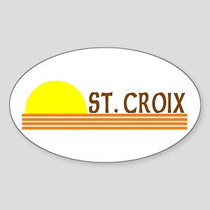 St. Croix, USVI Oval Sticker