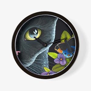 Cat 557 Wall Clock