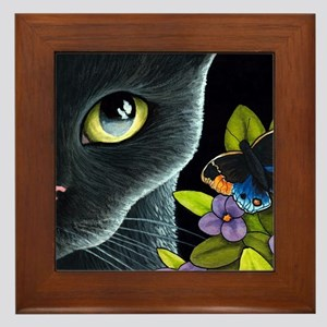 Cat 557 Framed Tile