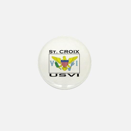 St. Croix, USVI Flag Mini Button