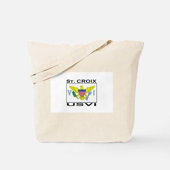 St. Croix, USVI Flag Tote Bag