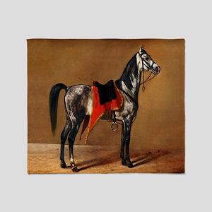 Dappled Horse Throw Blanket