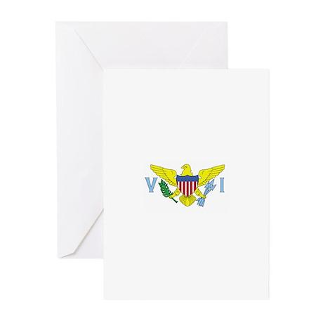 St. Croix, USVI Flag Greeting Cards (Pk of 10)