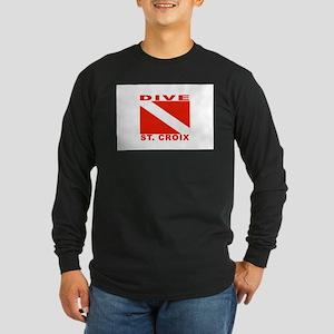 Dive St. Croix, USVI Long Sleeve Dark T-Shirt