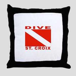 Dive St. Croix, USVI Throw Pillow