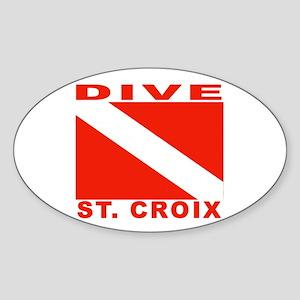 Dive St. Croix, USVI Oval Sticker