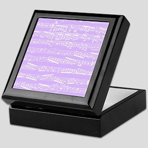 Purple lilac music notes Keepsake Box