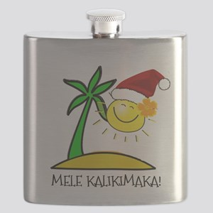Hawaiian Christmas - Mele Kalikimaka Flask