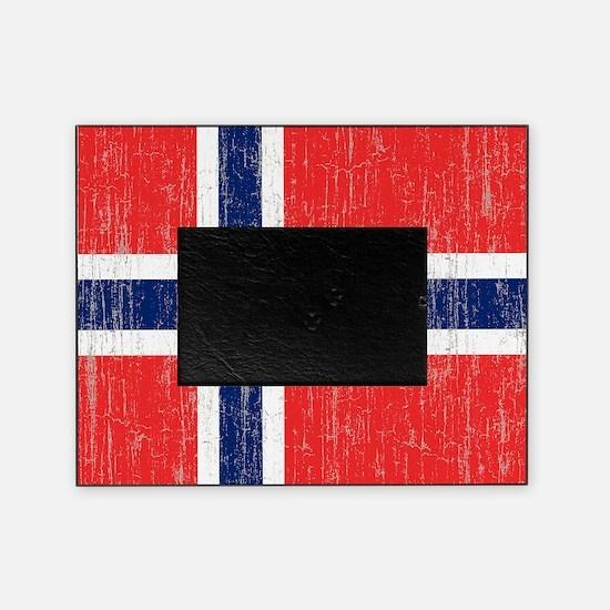 Vintage Norway Flag King Duvet Picture Frame