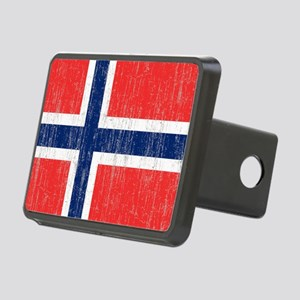 Vintage Norway Flag King D Rectangular Hitch Cover