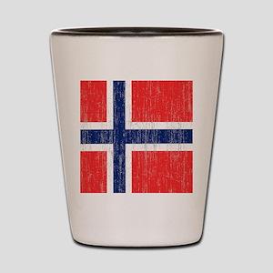Vintage Norway Flag King Duvet Shot Glass
