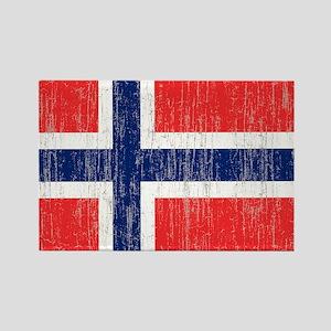 Vintage Norway Flag King Duvet Rectangle Magnet