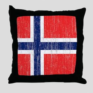 Vintage Norway Flag King Duvet Throw Pillow