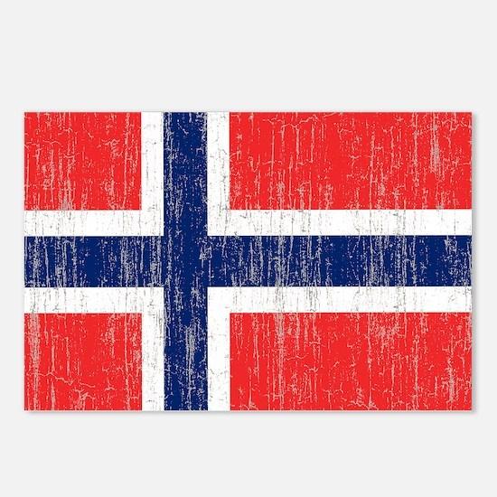 Vintage Norway Flag King  Postcards (Package of 8)