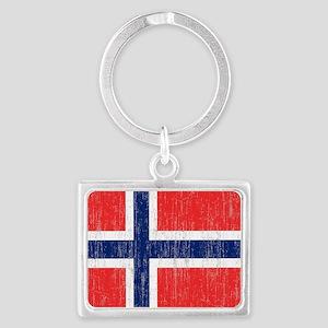 Vintage Norway Flag King Duvet Landscape Keychain