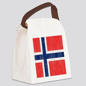 Vintage Norway Flag King Duvet Canvas Lunch Bag