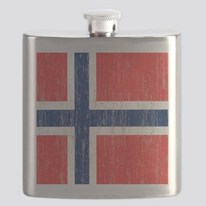Vintage Norway Flag King Duvet Flask
