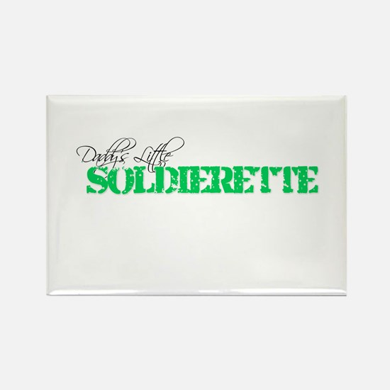 Daddy's Little Soldierette Rectangle Magnet