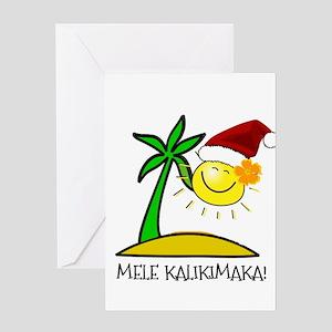 Hawaiian christmas greeting cards cafepress hawaiian christmas mele kalikimaka greeting card m4hsunfo