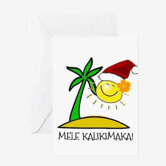 Hawaiian Christmas - Mele Kalikimaka Greeting Card
