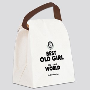 The Best in the World Old Girl Canvas Lunch Bag