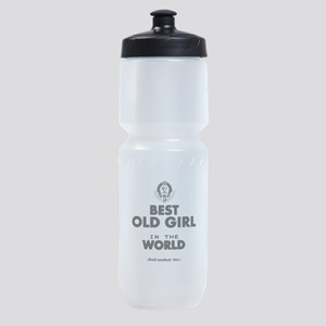 The Best in the World Old Girl Sports Bottle