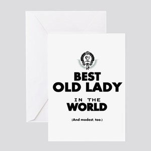 Funny old lady greeting cards cafepress the best in the world old lady greeting cards m4hsunfo