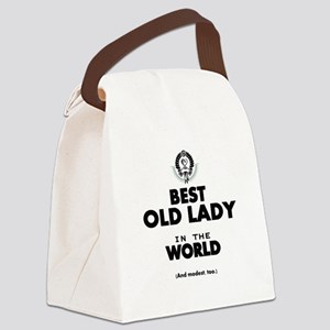 The Best in the World Old Lady Canvas Lunch Bag