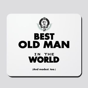 The Best in the World Old Man Mousepad