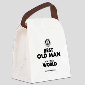 The Best in the World Old Man Canvas Lunch Bag