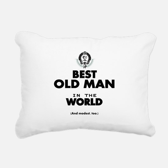 The Best in the World Old Man Rectangular Canvas P